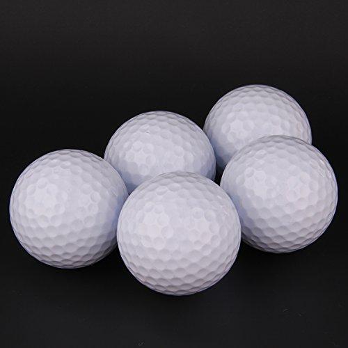 WINOMO 5pcs Golf Ball Golf Swing Training Aids Indoor Schwamm Schaum Übungsbälle (weiß)