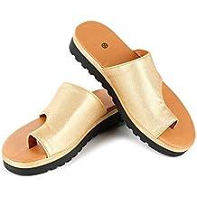 099ab59b569 RUIQIMAO Correction orthopédique des oignons pour Les Femmes Chaussures  orthopédiques Sandales de Correction de Pied Gros