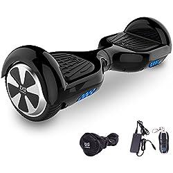 "Cool&Fun Patinete Eléctrico Scooter Monopatín Eléctrico Auto-equilibrio Patín 6.5"" de SHOP GYROGEEK (Negro)"