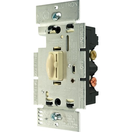 Lutron Q-603P-IV 600W 3-Wege Qoto Dimmer und Schalter, Elfenbein - Lutron Dimmer