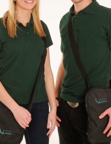 KringsFashion Herren-Poloshirt Fine Line, piqué-Qualität - ABVERKAUF, RADIKAL REDUZIERT Tannengrün