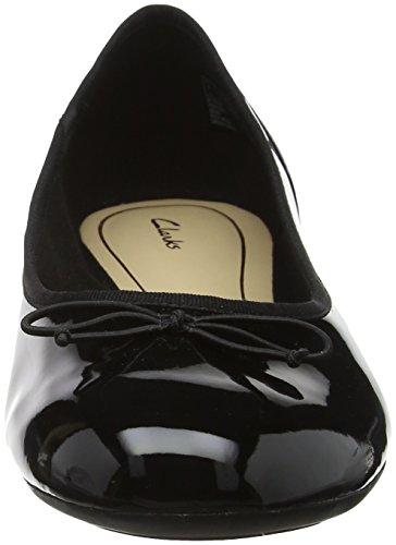 Clarks Couture Bloom Damen Ballerinas Schwarz (Black Pat)