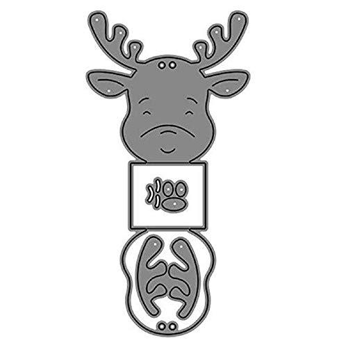 hahuha Toy Christmas Deer Metal Dies Cuts für die Kartenherstellung Schablone DIY Scrapbooking Card -