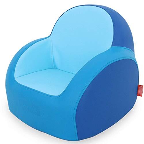 LMCLJJ Kindersessel Kunstleder Kindermöbel Kindersofa Pflegeleichtes PU-atmungsaktives Kindersofa Weiches und bequemes Kindersofa (Color : Blue)