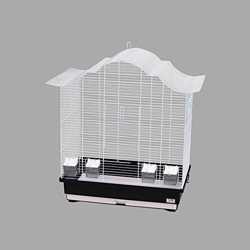 WD IMPEX CTC-Trade| Vogelkäfige XXL Schwarz Außenmaße 70x42x72,5 cm Urlaub Reisekäfig Zubehör Wellensittich Kanarienkäfig Futternapf Plastik Vogel Modell Asia 60