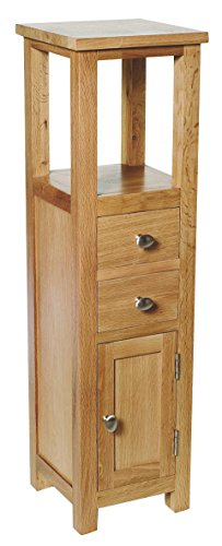 Waverly Oak Compact Small Telephone Console Hallway Lamp Side Table Corner Bathroom Storage Unit Cupboard Cabinet Plant Stand