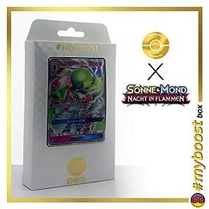 Guardevoir-GX 93/147 - #myboost X Sonne & Mond 3 Nacht in Flammen - Box de 10 Cartas Pokémon Aleman