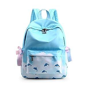 FANDARE Mochila Bolsa de Escuela Galaxy Mochilas Tipo Casual Bolsos de Mujer Bolsa de Viaje Niña Adolescente Mochilas para Aire Libre Viaje Mochilas Mochilas Infantiles Daypack Poliéster Azul Púrpura
