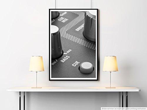 Sinus Art Kunst Leinwandbild - Künstlerische Fotografie - Regler am Mischpult- Fotodruck in gestochen scharfer Qualität