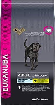 EUKANUBA - Croquettes Premium pour Chiens Adultes Grandes Races - Alimentation 100% Complète et Equilibrée, sans OGM - Au Poulet - 15kg