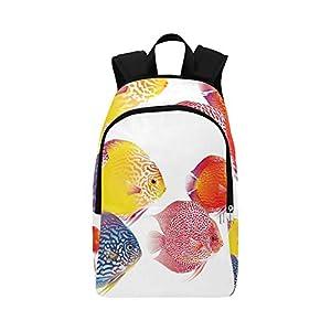 Eps 10 Diskus Fisch Farbe Optionen Symphysodon Casual Daypack Reisetasche...