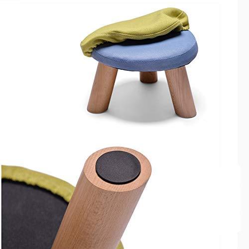 MJY Pouf imbottito Pouf da bambino Sgabelli da bambino Scarpe Panca sedile legno 4 gambe quadrato,B,