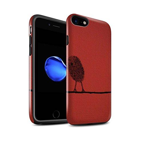 STUFF4 Glanz Harten Stoßfest Hülle / Case für Apple iPhone 8 / Unendlichkeit/Recht Muster / Sie & Mich Paare Kollektion Daumen Vogel/Recht