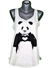 CAMISETA SIN MANGAS PARA MUJER - panda oso - ESTYLO GRAFICO - ANIMAL - BOXING PANDA BEAR PRINT WOMAN TANK-TOP