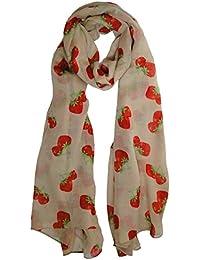 Strawberry Scarf in Cream Ladies Fashion Spot Scarves