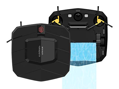 EZIclean Ultra Slim V2 Black - Robot Aspirateur ultra fin - Avec kit serpillère