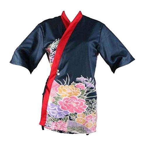 Black Temptation Japanische Sushi Koch Mantel Uniformen [L Größe für Unisex] - Küche Uniformen - D (Sushi Koch Kostüm)