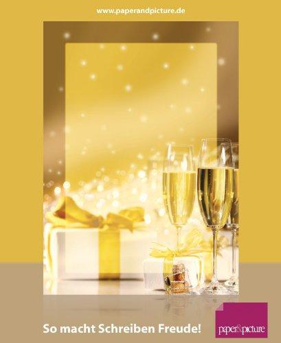 Einladungen und Glückwünsche Briefpapier Set Geburtstags-Grüße, 100-teilig mit 50 Blatt Motivpapier DIN A4, 90g/qm und 50 passenden DIN LANG-Briefumschlägen