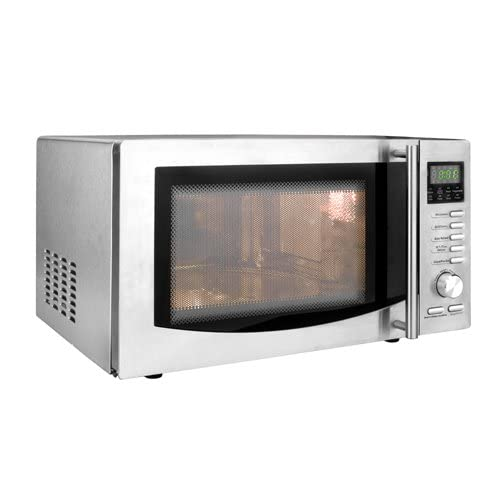 41ewUKtgRYL. SS500  - Lacor Microwave Oven with Turntable and Grill, Stainless Steel, Silver, 21 Litre