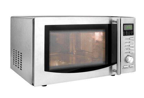Lacor 69323 - Horno microondas con plato giratorio, 1000 W, de 23 litros, gris