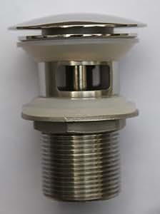 acier inoxydable Vidage push/pull pour vasque et lavabo avec trop plein miroir brillant