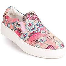 Sneakers Senza Lacci a Fantasia Floreale Donna Tessuto 3c9c9ca5f67