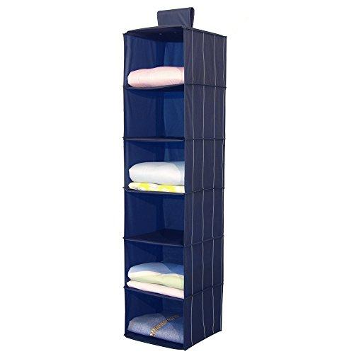 Alpha Gold Ordi - Organizer pensile per scarpe e vestiti - Disponibile in due formati (Portabiancheria pensile 6 scomparti)