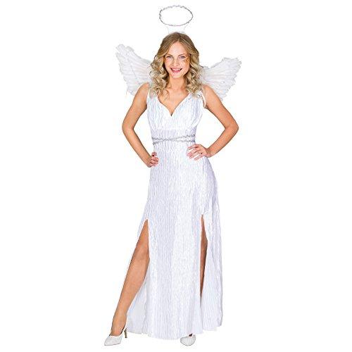 Engel Kostüm Kinder Jungen - TecTake dressforfun Frauenkostüm Weihnachtsengel | langes Kleid inkl. angenähtem Gürtel | Heiligenschein | Flügel (M | Nr. 300235)