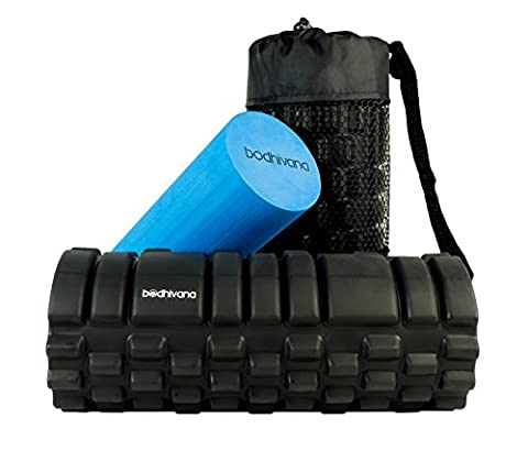 2 in 1 Trigger Point Foam Roller for Deep Tissue Muscle Massage – High Density Foam Roller for Muscles & Soft Foam Roller for Workout Pain, Cellulite, Lactic Acid & Migraines –Ideal Myofascial Release Roller & Sports Massage Therapy Yoga Foam Roller