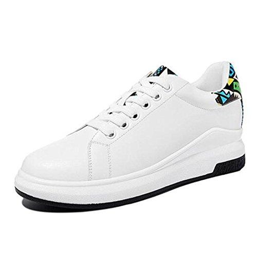 Scarpe casual autunno e inverno combattono scarpe piatte colore scarpe bianche rotonde moda white