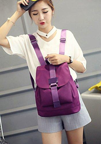 WanYang Fashion Mädchen Schulrucksack Damen Wasserdicht Nylon Schule Rucksack Großer Kapazität Schultasche Daypacks Violett