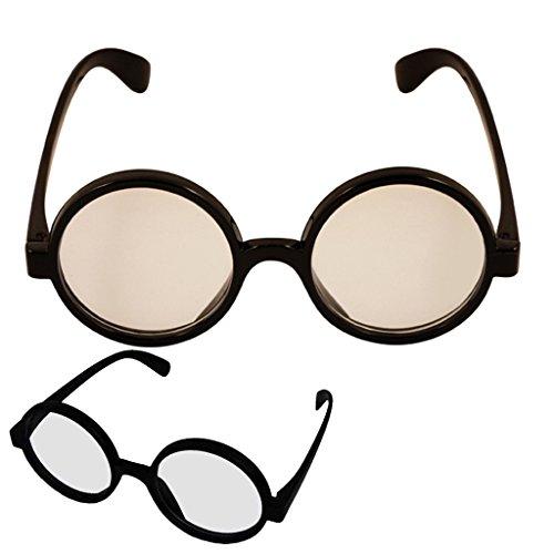 Harry Potter Wizard Gläser Fancy Dress Up Geek Nerd Party Kostüm Wheres Wally (Wheres Wally Kostüm Kostüm)
