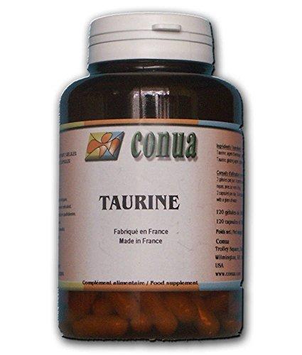 Taurine 120 gélules: 500 mg muscles, culturisme, yeux, efforts sportifs, crampes, courbatures, cholestérol, mémoire - taurine