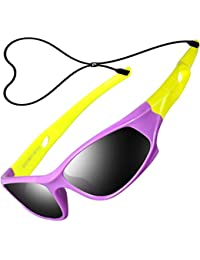 b81c72f068 ATTCL Kids TR90 Polarized Sunglasses Style For Boys Girls Childrens Age 3-10