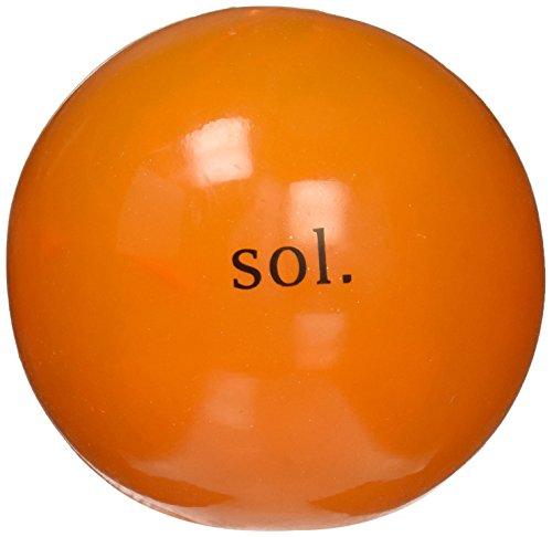 Planet Dog orbee tuff Cosmos Hundespielzeug, Sol, transluzent orange