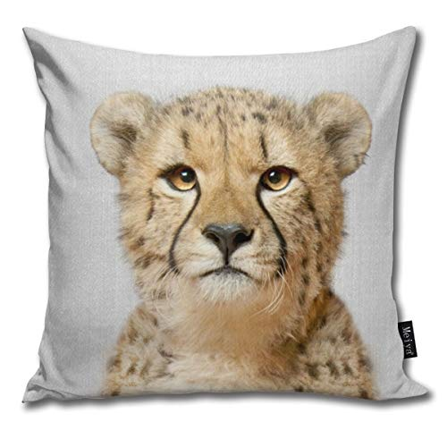 Cheetah Colorful Pillowcase Home Life Cotton Cushion Case 18 x 18 inches