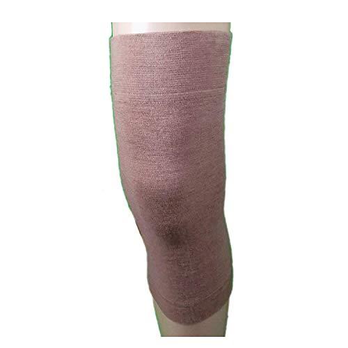2Knieschoner, Wolle, elastische Band Wärme für die Knie Schmerzlinderung, Traumata, etc 2° small cm 34-38