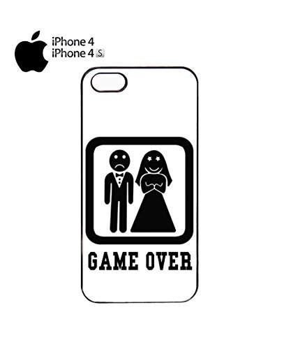 Game Over Funny Marriage Married Poor Guy Boy Mobile Phone Case Cover iPhone 5c White Noir