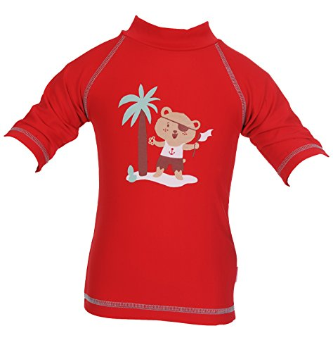 Piwapee - Top Lycra Anti UV UPF50+ Rouge Ourson