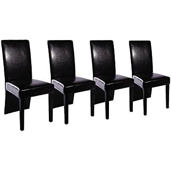 sedie design moderne in legno e ecopelle nera per salotto cucina ... - Sedie Per Soggiorno Economiche 2
