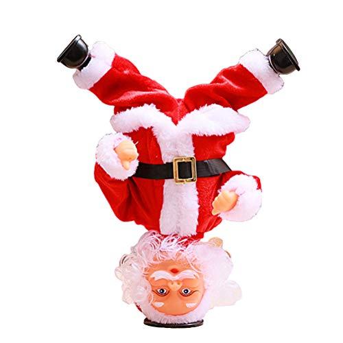 Bestoyard babbo natale che canta e balla elettrico con musica per regalo natalizio (senza batteria)