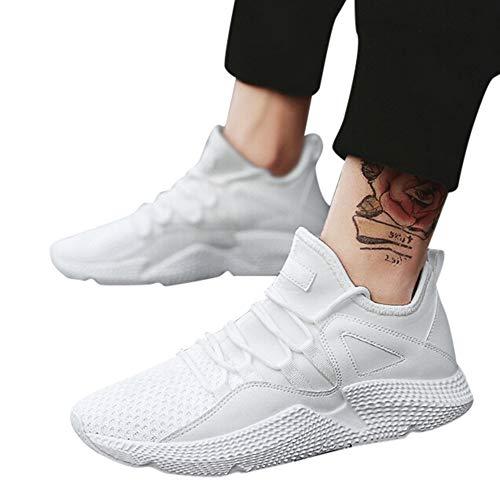 Yanhoo-scarpe uomo donna scarpe da sportive running,sneakers uomo elegante,stivali da equitazione, corsa da uomo scarpe da maglia traspiranti leggere scarpe da ginnastica per il tempo libero