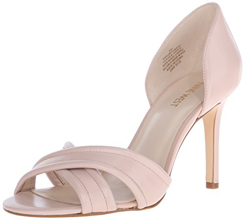 Nine West Fortunata cuir Sandales à talons Light Natural
