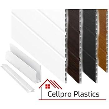 White, 300mm UPVC Flat Plastic Board / Soffit 9mm x 5m