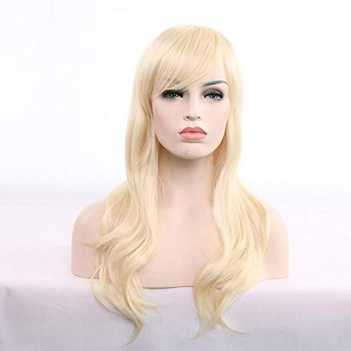 Berrose 70cm Frauen Hitzebeständige Haare Blonde lange lockige Perücke Anime Europa und Amerika Langes, lockiges Haar Wig Langhaar gewellt Hitzebeständiger Kunstfaser Diverse ()