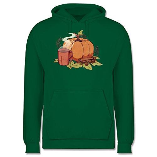 Statement Shirts - Pumpkin Spice - Männer Premium Kapuzenpullover / Hoodie Grün