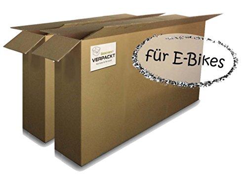2 Stk Fahrradkarton/-verpackung (groß) für E-Bikes 1800x250x1000mm 2-wellig