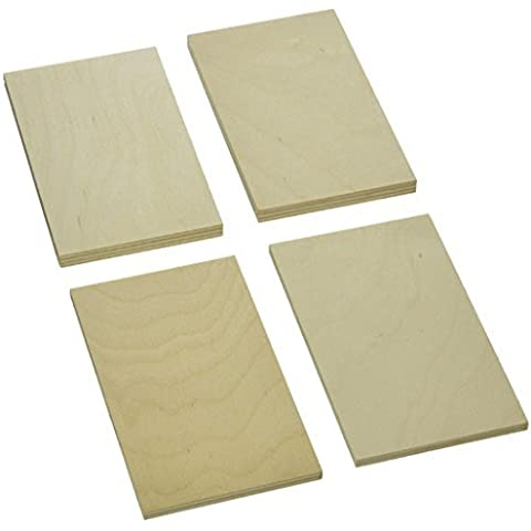 Sax 407054 Project Wood Thin Plywood in Economy Bag, 1/8 Board Foot, Assorted Sizes by Sax