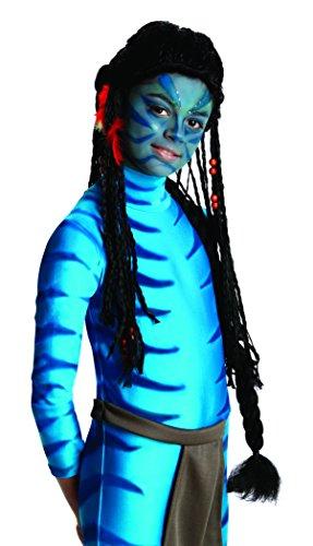 Kinder Für Avatar Kostüm (Avatar Neytiri für Kinder Avatar schwarze Rasta Kinderperücke Faschingsperücke)