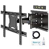 BONTEC TV Wandhalterung Schwenkbar Neigbar für 37-80 Zoll LCD/LED Fernseh Vollbewegung - Ultrastarker Doppelarm - Superstarke 90kg Tragfähigkeit - Inklusive 1,8m HDMI-Kabel, Wasserwaage, Reinigungsset